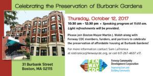 Celebrating the Preservation of Burbank Gardens @ Burbank Gardens | Boston | Massachusetts | United States